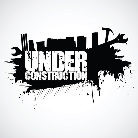 under construction: Under construction background (vector illustration)