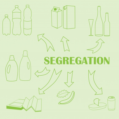 Concept of trash segregation Vector