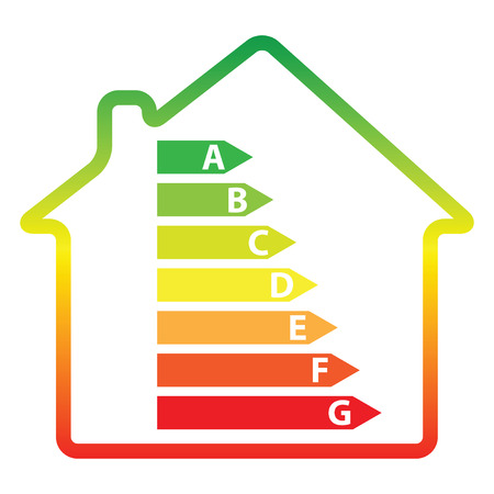 energy efficiency rating and house (vector illustration)