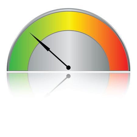 indicatore: Tachimetro buttonisolated su bianco (illustrazione vettoriale) Vettoriali