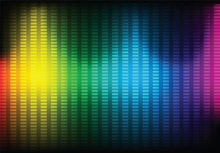 Abstract music equalizer background. Vector illustration.  Vector