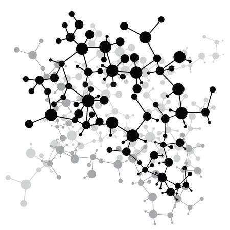 Moléculas abstractas médica (ilustración vectorial). Ilustración de vector
