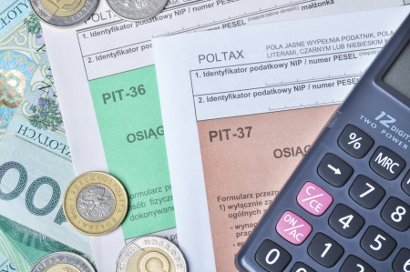taxation: Polish tax forms, PIT-36 and PIT-37.