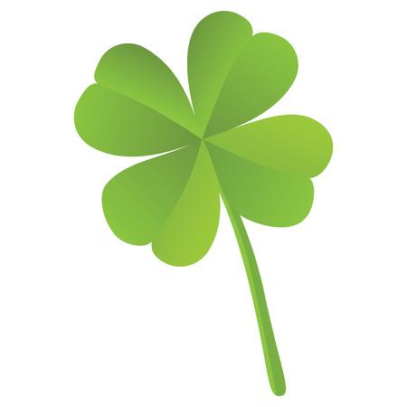 Four leaf clover isolated, St  Patrick Vector