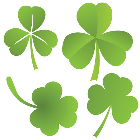 Collection of clovers, vector illustration Stock Vector - 26038850
