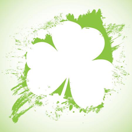 Grunge St. Patrick Day background, vector illustration Vector