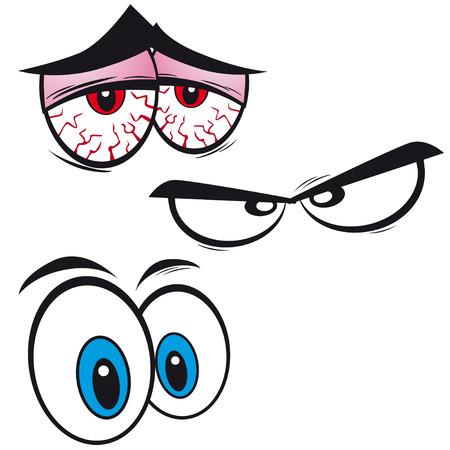set van cartoon ogen, illustratie
