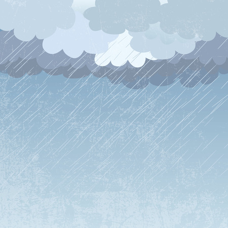 storm clouds: Rain as a background, illustration