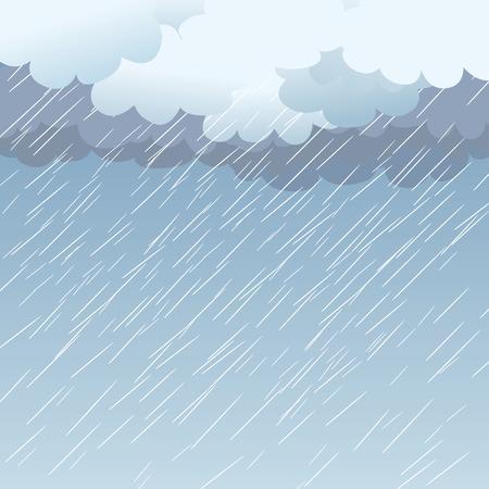 Lluvia como telón de fondo, ilustración Ilustración de vector