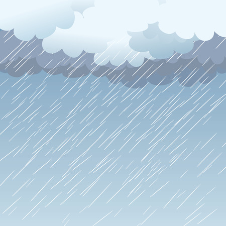 Rain as a background, illustration