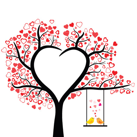 birds love design over white background, vector illustration Zdjęcie Seryjne - 29266388