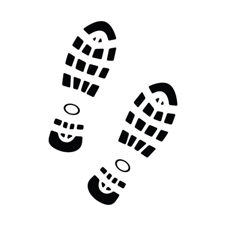 Shoe print isolated on white background, vector illustration Vector