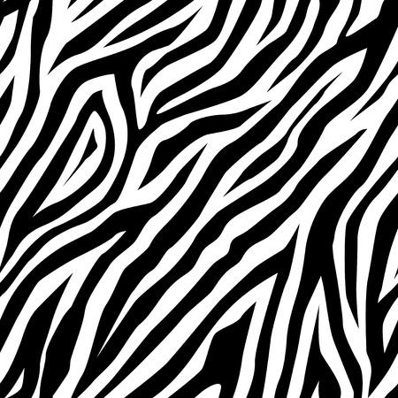zebra skin: Zebra pattern as a background, vector illustration Illustration