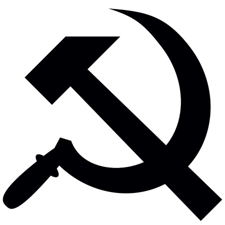 hammer and sickle: hammer and sickle isolated on white background, vector illustration Illustration
