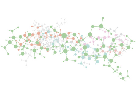 biomedical: Priorit� molecole medical background (illustrazione vettoriale). Vettoriali