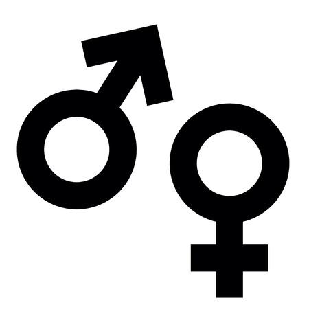 Sex symbol isolated on white background, vector illustration Illustration