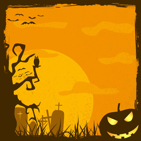 abstract halloween background, vector illustration Vector