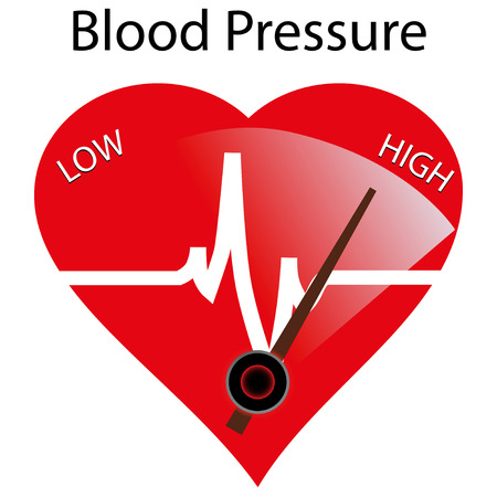 blood pressure monitor: Concept of hypertension, vector illustration Illustration