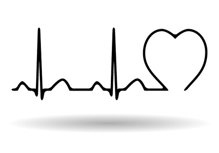Cardiogram icon isolated on white background, vector illustration Vector