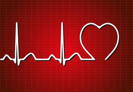 Achtergrond met cardiogram, vector illustratie Stock Illustratie