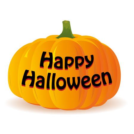 haloween: Haloween pumpkin isolated on white background, vector illustration