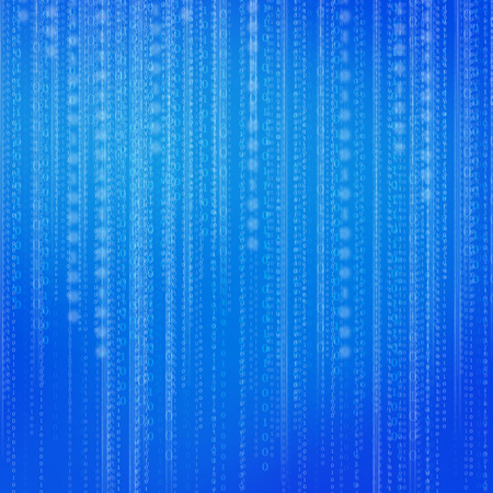 computer language: Abstract binary code background. Blue Stock Photo