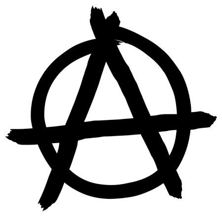 Anarchy symbol isolated on white background, vector illustration Illustration