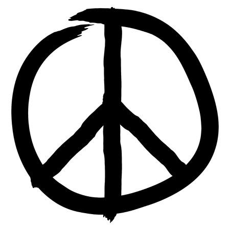 Peace symbol isolated on white background, vector illustration