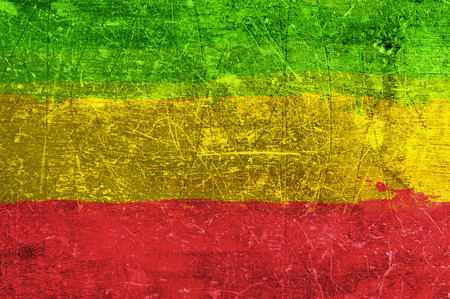 Grunge rasta flag as a background Stock Photo