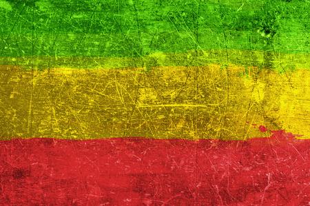 jamaican flag: Grunge rasta flag as a background Stock Photo