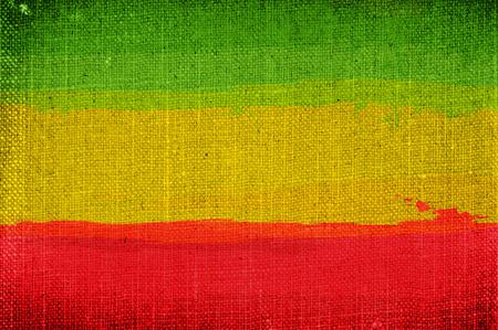 ethiopia abstract: Grunge rasta flag as a background Stock Photo
