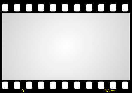film strip: negative picture film frame illustration Illustration
