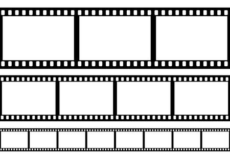 cinta de pelicula: Conjunto de película marco ilustración