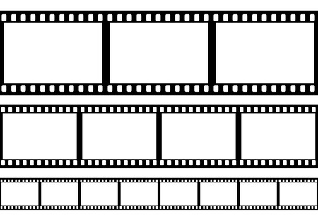 Films: Set of film frame illustration Illustration