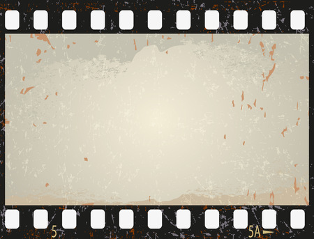 old movies: Grunge film frame, vector illustration