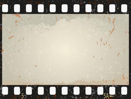 filmnegativ: Grunge-Film-Frame, Vektor-Illustration