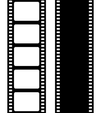 cinta de pelicula: Conjunto de fotograma de la película, ilustración vectorial