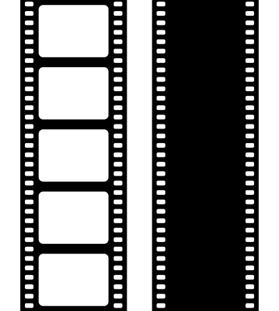 negative: Set of film frame, vector illustration