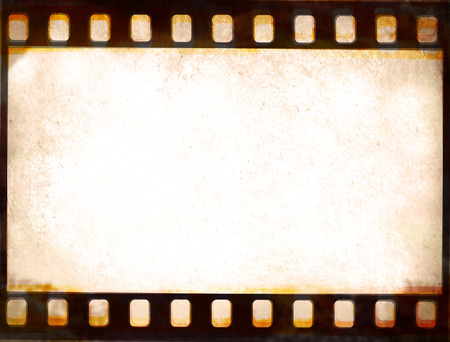 film frame: Grunge film strip frame background Stock Photo