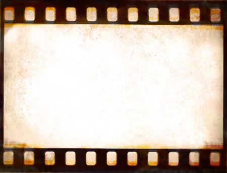 negative film: Grunge film strip frame background Stock Photo