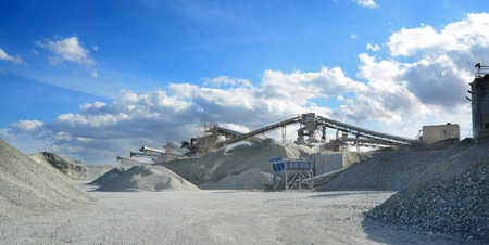 rock crusher machine in quarry photo