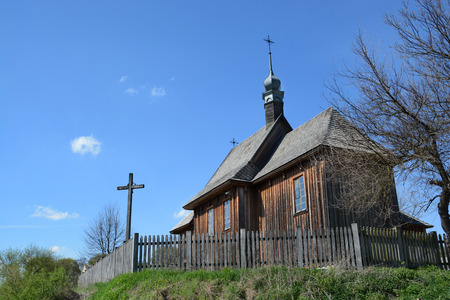 lubelskie: LUBLIN, POLAND - APRIL 27: Old church in the open-air museum of lubelskie district on april 27, 2015 in Lublin, Poland.