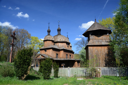 lubelskie: LUBLIN, POLAND - APRIL 27: Old eastern orthodox church in the open-air museum of lubelskie district on april 27, 2015 in Lublin, Poland.