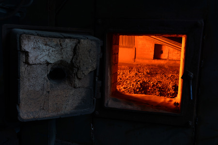 molted: Furnace in thermal power station.