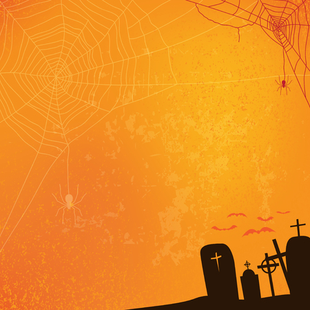 abstract halloween background, vector illustration