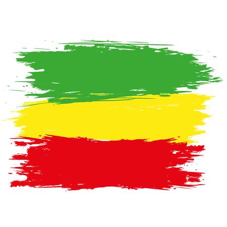 Grunge rasta flag as a background, vector illustration