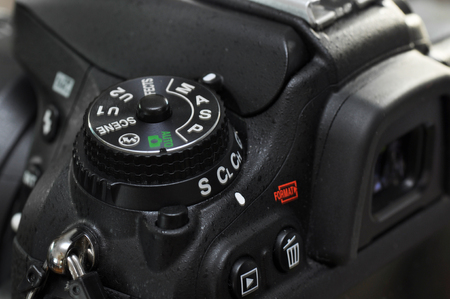 digital camera: Macro of professional digital camera. Stock Photo