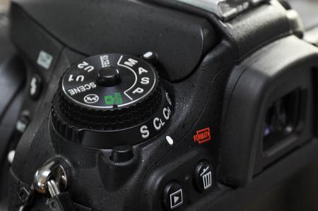 macro: Macro of professional digital camera. Stock Photo