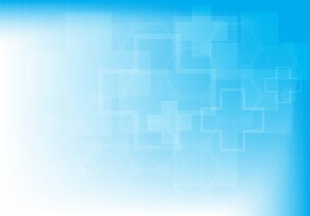 gezondheid: Abstracte molecules medische achtergrond (Vector illustratie).