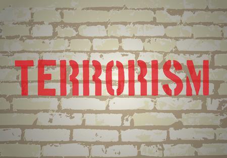 dangerous ideas: No terrorism concept. Vector illustration